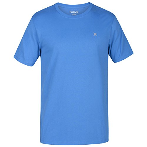 Hurley Men's Icon Dri-Fit Tee, Light Photo Blue, Large