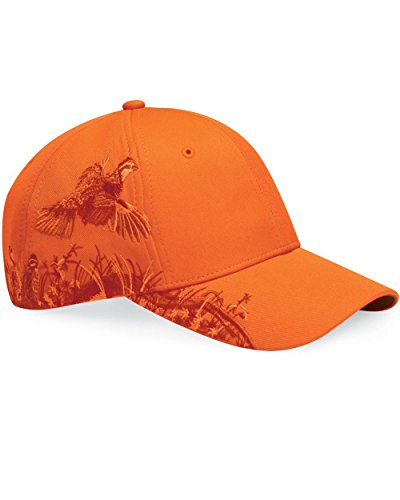 Dri Duck 3200 Wildlife Series Brushed Cotton Cap, Blaze Quail & Blaze Orange