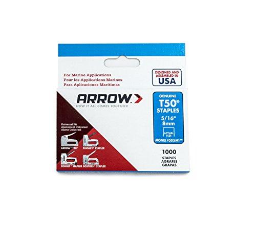 Arrow Fastener 505M1 Monel Genuine T50 Rustproof Staples, 5/16-Inch