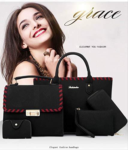 Het säljande Europa och USA fan sommar ny flerdelad uppsättning kvinnliga väskor trendlinje matt retro damer