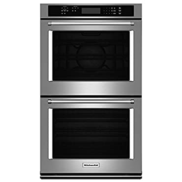 KitchenAid 27 Double Electric Wall Oven Self-Cleaning with Convection in Stainless Steel