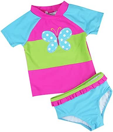 LOSORN ZPY Baby Toddler Girl Swimsuit Set Kid Girl Two Pieces Swimwear Rash Guard