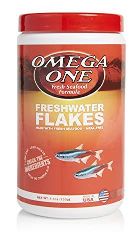 Omega One Freshwater Flakes, 5.3 oz