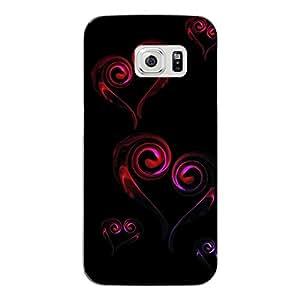 """Disagu Design Protective Case para Samsung Galaxy S6 Edge Funda Cover """"Hearts"""""""