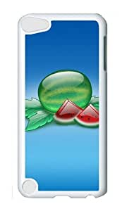 Ipod 5 Case,MOKSHOP Adorable Crystal watermelon fruit Hard Case Protective Shell Cell Phone Cover For Ipod 5 - PC White