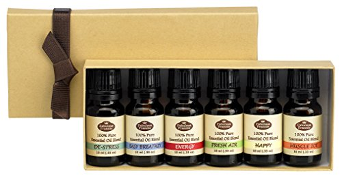 Fabulous Frannie Blend Sampler Gift Set Pure Essential Oil Blends, 10ml Each, Set of 6