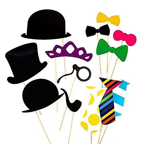 58PCS Photo Booth Props Party Favor for Wedding Party Graduation Birthdays        Amazon imported products in Karachi