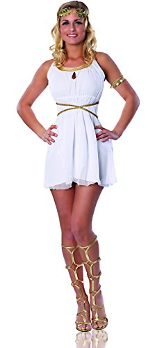 Delicious Grecian Goddess Costume, White, X-Small