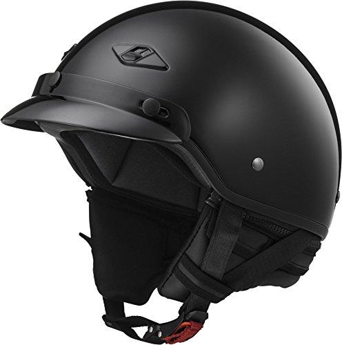 LS2 Helmets Unisex-Adult Half-Size-Helmet-Style Bagger Helmet (Gloss Black, Large)