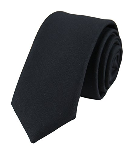 Men's Black Pure Cotton Clothing Tie Handmade Beautiful Formal Necktie for Guys from Secdtie