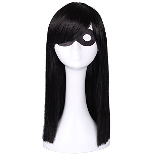 ColorGround Kids Long Straight Black Natural Cosplay -
