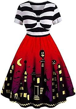 WARRT Disfraz de halloween Mujeres Calabaza Ama De Casa Impresión ...