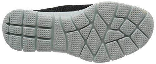 Skechers Empire-Sharp Thinking, Zapatillas Sin Cordones Para Mujer Negro (Black/white)
