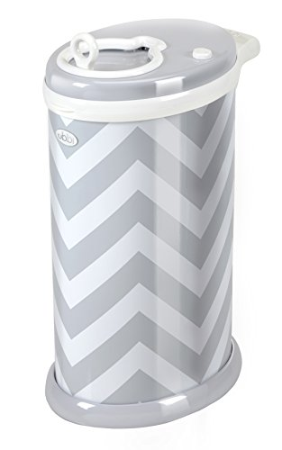 ubbi-steel-diaper-pail-gray-chevron