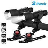 Keenstone Rechargeable Bike LED Lights Front and Back 2 Pack, Bicycle Headlight 700