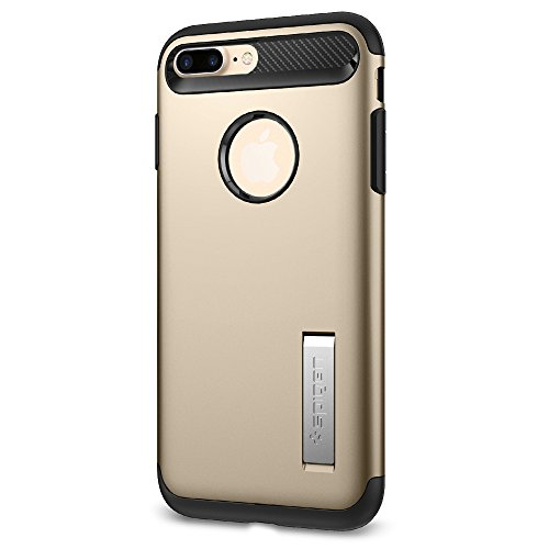 Gold Cracked Ice Sets (Spigen Slim Armor iPhone 7 Plus Case with Kickstand and Air Cushion Technology Hybrid Drop Protection for Apple iPhone 7 Plus (2016) - Champagne Gold)