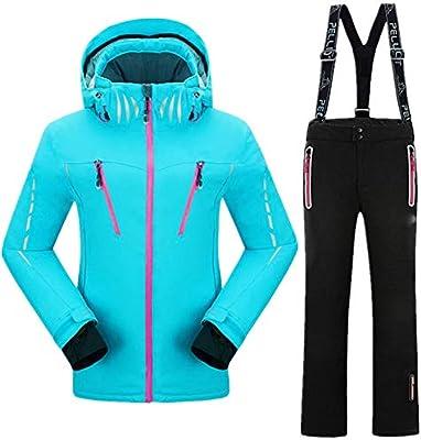 IFUEN Traje Esqui Traje De Esquí Mujer Invierno Traje De ...