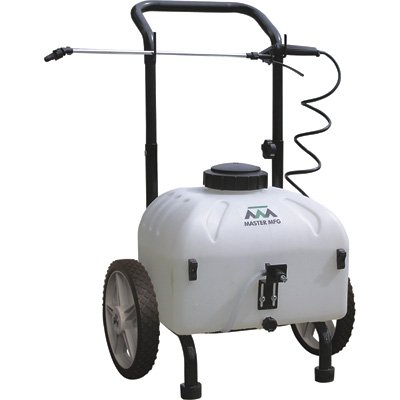- Master Gardener Rechargeable Cart Sprayer, 12 Volt, 9-Gallon Capacity