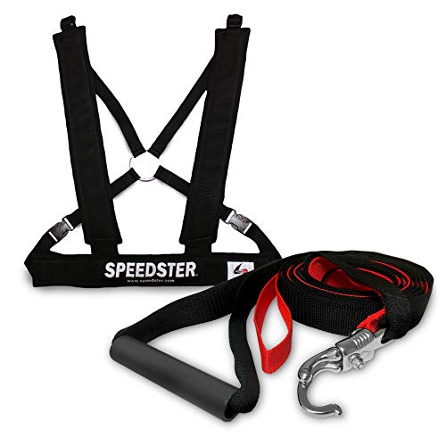 (Speedster Power Break Away System - Adjustable Padded Chest Harness - Speed & Resistance Acceleration Training for Developing Faster Running & Quicker Sprints)