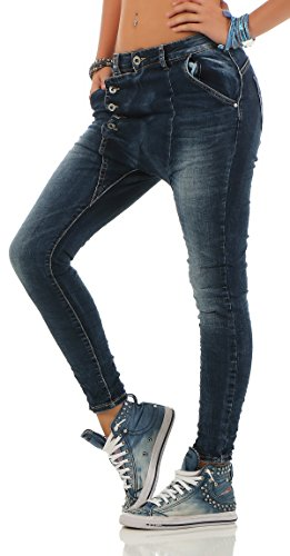 Da Zarmexx Baggy Blu Ladies L18133 Fidanzati Denim Lexxury Stretch Look Distrutto Jeans CBqwd5xRH