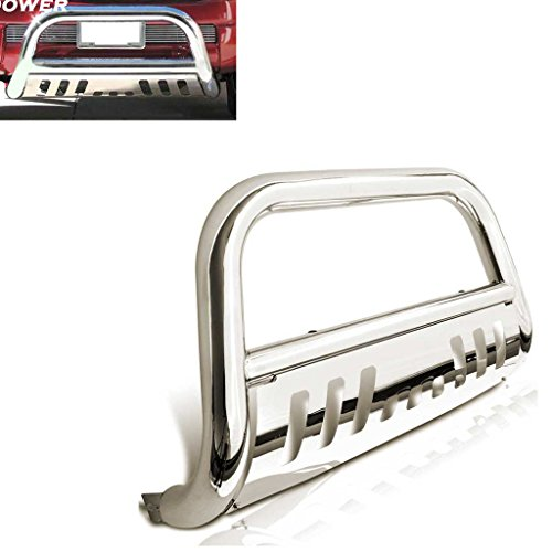 RAFTUDRIVE 3 in Stainless Steel Bull Bar Push Bar Grill Guard Fit 2005-2015 Toyota Tacoma All Models, Not fit Truck with sensors on Bumper