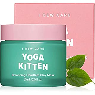 I DEW CARE Yoga Kitten   Balancing Heartleaf Clay Face Mask   Korean Skincare, Facial Treatment, Vegan, Cruelty-free, Paraben-free   Gifts For Mom and Women