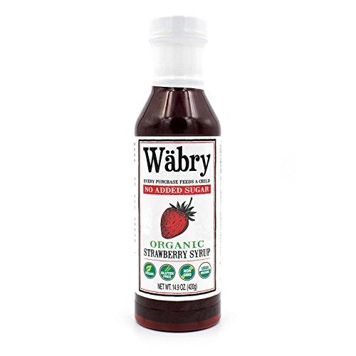 Wäbry Organic Syrup (Strawberry, No Sugar Added) 13.8 oz BPA-Free Plastic