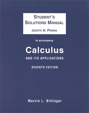 Calculus and Its Applications (Student's Solution Manual)