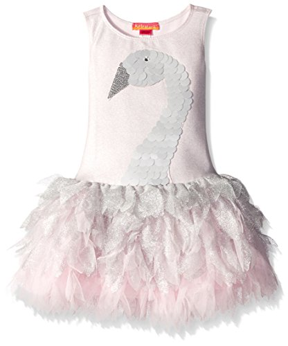 Kate Mack Little Girls' Toddler Swan Princess Dress, Silver, 3T