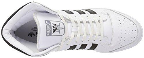 Adidas Originaler Menns Topp Ti Hi Mote Joggesko Hvit / Svart / Tech Grå Stoff