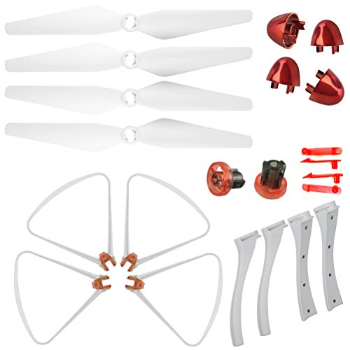 XiaoPengYo Syma X8SC X8SW X8S Spare Parts Rotor Blade Protective Gear + Foot Stand + Blade Cover + Blade lockstitch
