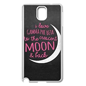 Samsung Galaxy Note 3 Cell Phone Case White_Gamma Phi Beta Crescent Moon TR2413575