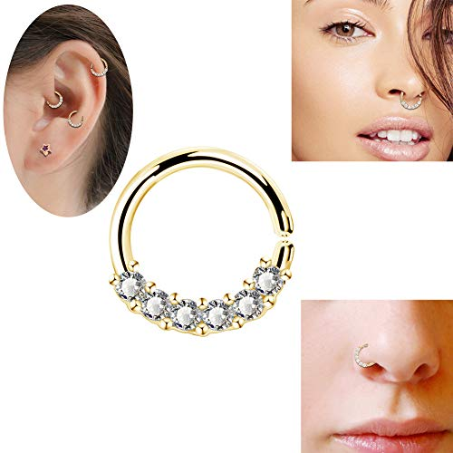 OUFER Cartilage Piercing Jewellery Tragus Body Earrings Heart Shaped  Stainless Steel Right Closure Daith Helix Hoop Rings - Buy Online in  Bahamas.   oufer Products in Bahamas - See Prices, Reviews and