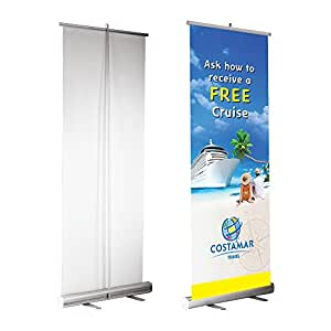 roll up retractable banner stand portable trade show display