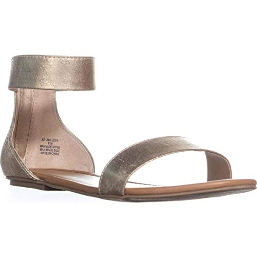 American Rag Womens Keley 2 Open Toe Casual Ankle Strap, Platino, Size 7.0