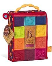 B. toys Baby miękkie klocki, zabawka motoryczna, zabawka edukacyjna, kostka z cyframi i zwierzętami, dla dzieci od 6 miesięcy (10 elementów)
