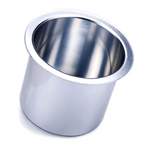 Brybelly Single Vivid Silver Aluminum Drop-In Cup Holder