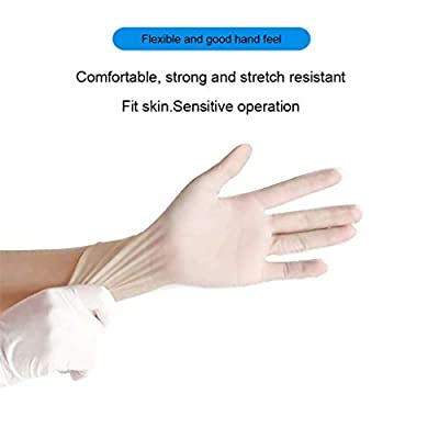 Nitrile Exam Gloves,100 Pcs Comfortable Disposable Protective Gloves - Safety, Powder Free, Latex Free(M,White): Clothing