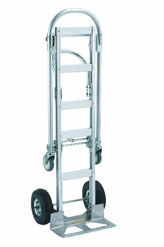 Wesco 220001 Spartan Economy Aluminum 2 in 1 Sr. Truck, Pneumatic Wheels, 1000-lb. Load Capacity, 22