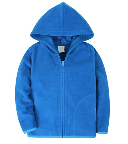 Dalary Baby Boys&Girls Polar Fleece Zipper Christmas Hoody Jacket Outerwear (5T,Blue) ()