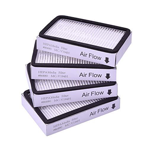 4-Pack - Kenmore EF-2 86880 Exhaust Vacuum HEPA Filters. Compare to Replace Sears Kenmore Part # 20-86880 (86880), 40320, EF2, 610445. Also Replaces Panasonic MC-V194H.