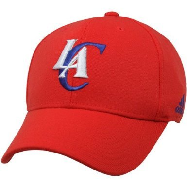 - NBA adidas Los Angeles Clippers Basic Logo Structured Flex Hat - Red (S/M)