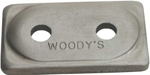 Woodys Double Digger Aluminum Support Plates - Natural - 5/16in. Thread ADD2-3775-D