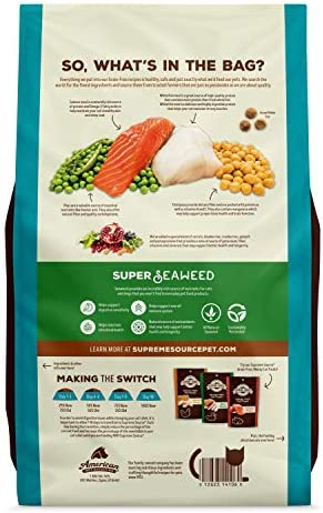 Supreme Source Grain Free Dry Cat Food, Whitefish Meal Salmon Meal Recipe, 6 Pound Bag