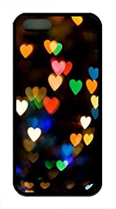 Blurred Light Hearts Custom iPhone 5s/5 Case Cover TPU Black by runtopwell
