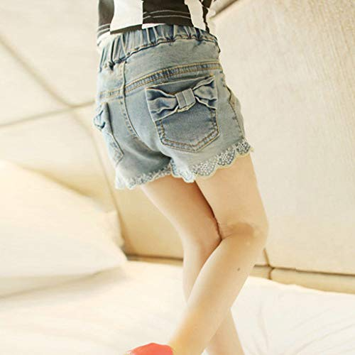 MV Summer New Kids Girls Korean Edition Bow Denim Shorts Girls Denim Shorts