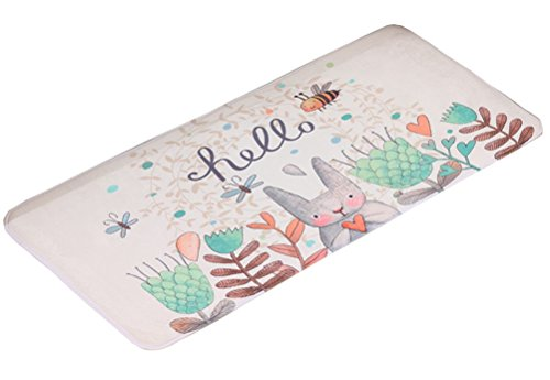 - LamourBear Multi-Size Cute Rabbit Super Soft Door Rug Absortion Kitchen Mat Non-Slip Bath Rug Memory Foam Kitchen Rug Cat Bathroom Rug Front Doormat 20 by 31.5 Inches