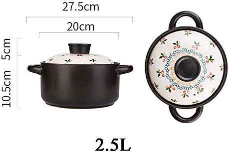 AGGF Cocotte Japonaise, Casserole de Pot de Soupe en céramique de Riz en Argile, Petit Pot de ragoût de gaz Domestique sûr