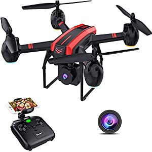 Flashandfocus.com 41TYT65stIL._SS300_ SANROCK 1080P HD Camera Drones for Kids and Adults, X105W RC Quadcopter for Beginners, Wifi Live Video, App Control…