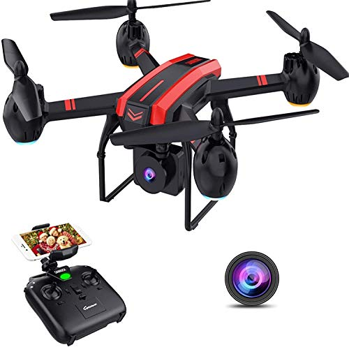 SANROCK 1080P HD Camera Drones for Adults And Kids, X105W RC Quadcopter for Beginners, Wifi Live Video Cam, App Control…
